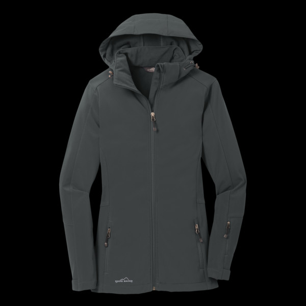 549e9708220 Eddie Bauer Ladies Hooded Soft Shell Parka HV Guns and Hoses Store